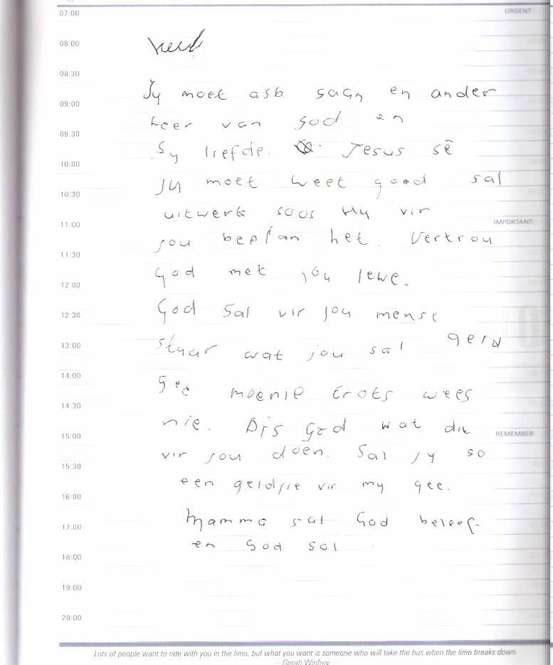Aldo Letter 1